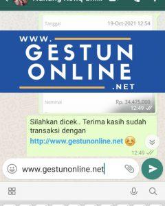 gestun online kartu kredit